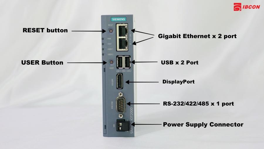 port เชื่อมต่อ iot2050
